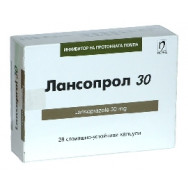 ЛАНСОПРОЛ КАПС 30МГ Х 28