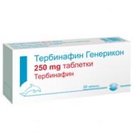 ТЕРБИНАФИН ГЕНЕРИКОН ТБ 250МГ Х 28